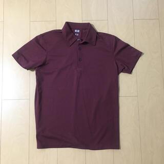 ユニクロ(UNIQLO)のユニクロ ポロシャツ トップス カットソー ワイン 茶色(ポロシャツ)