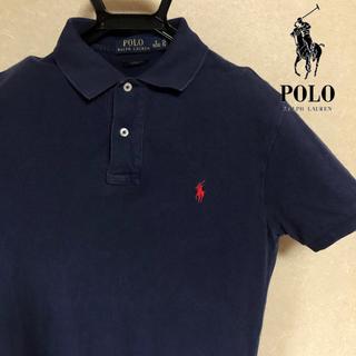 POLO RALPH LAUREN - 【値段交渉受付中】90s ポロラルフローレン ポロシャツ ネイビー