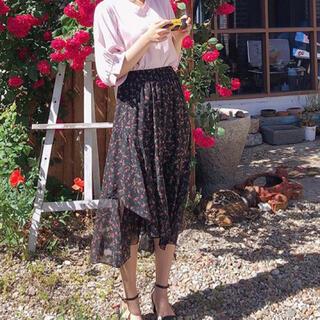 ゴゴシング(GOGOSING)の花柄シフォンフリルスカート(ロングスカート)