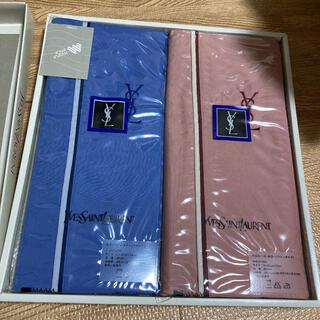 イヴサンローランボーテ(Yves Saint Laurent Beaute)のイブサンローラン ピローケース 青 ピンク 枕カバー(シーツ/カバー)