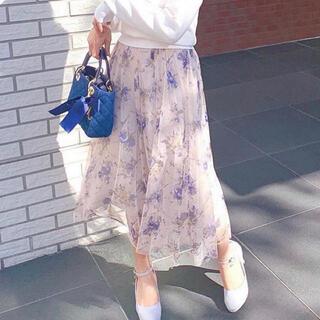 MISCH MASCH - MISCH MASCH❤︎チュール花柄ミディスカート☆ピンク