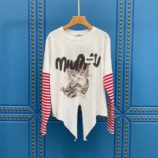 miumiu - ミュウミュウ ブラウス ロゴ