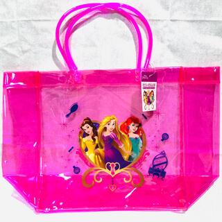 Disney - ディズニー プリンセス コンパクト プールバッグ ピンク ビニールバッグ