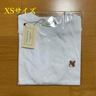 MAISON KITSUNE' - メゾンキツネ フォックスヘッドパッチ Tシャツ 白 XSサイズ