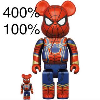 MEDICOM TOY - BE@RBRICK IRON SPIDER 100% 400%
