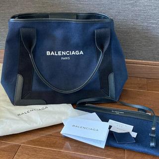 バレンシアガ(Balenciaga)のバレンシアガ トート カバ カバス キャンバス ネイビー(トートバッグ)