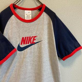 NIKE - 90s NIKE リンガー Tシャツ グレー ゆるだぼ vintage