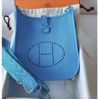 Hermes - ミニエブリン16TPMブルー青バンドリエール