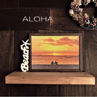 【送料無料】ハワイの風景☆SUNSET No.100         フレーム付(アート/写真)