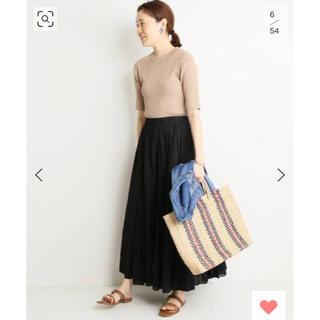 IENA SLOBE - SLOBE IENA コットンボイルロングスカート