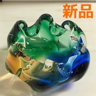 新品 クラタクラフトグラス 花器 オブジェ レトロ 灰皿