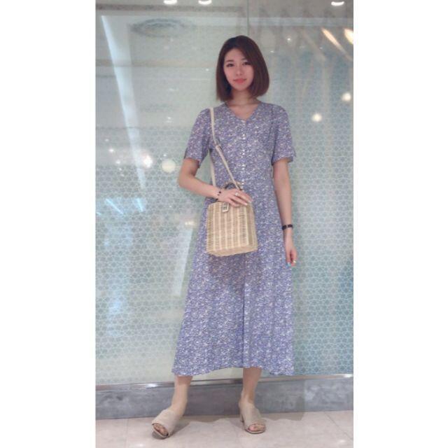 FRAY I.D(フレイアイディー)の深田恭子さん着用 FRAY I.D フラワーナローワンピース  レディースのワンピース(ロングワンピース/マキシワンピース)の商品写真