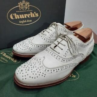 チャーチ(Church's)の[美品] レディース チャーチ バーウッド スタッズ スワロフスキー(ローファー/革靴)