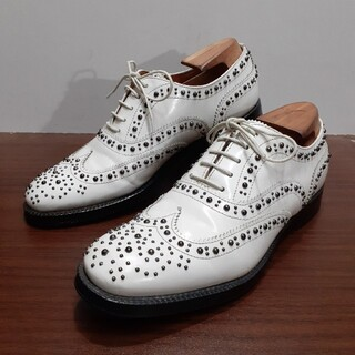 チャーチ(Church's)の美品] レディース チャーチ CHURCH'S   スタッズ バーウッド(ローファー/革靴)