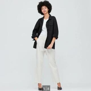 UNIQLO - UNIQLO リネンコットンシャツジャケット