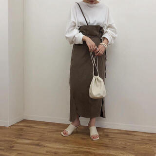 トゥデイフル(TODAYFUL)のnananamoe 2way wind up linen skirt blown(ロングスカート)
