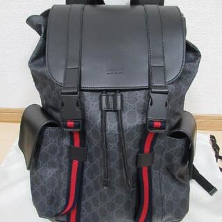 Gucci - 超美品GUCCI グッチ リュック バックパック GGスプリーム キャンバス 黒