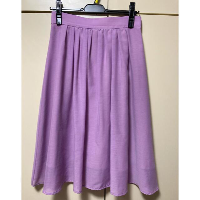 Apuweiser-riche(アプワイザーリッシェ)のアプワイザーリッシェ エアリースカート 2 Mサイズ ラベンダー レディースのスカート(ひざ丈スカート)の商品写真