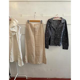agnes b. - agnes b. shirt&linen skirt set.