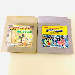 ゲームボーイ(ゲームボーイ)のミッキーマウス ゲームボーイソフト(携帯用ゲームソフト)