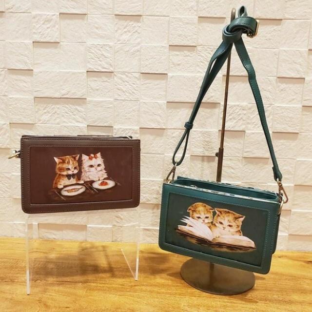 franche lippee(フランシュリッペ)のねこちゃん ショルダーバッグ メンズのバッグ(ショルダーバッグ)の商品写真
