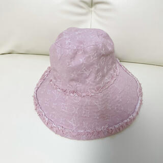 ルイヴィトン(LOUIS VUITTON)の【美品】ルイヴィトン 帽子 レディース S(ハット)