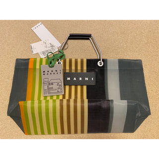 Marni - マルニマーケット ストライプバッグ ミニ マルチグレー