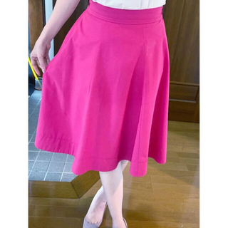 PROPORTION BODY DRESSING - 青みピンク 濃いピンク 夏用 スカート ベルト付き
