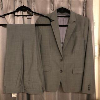 ユニクロ(UNIQLO)のユニクロ ウォッシャブルスーツ 上下 セットアップ パンツスーツ グレー(スーツ)