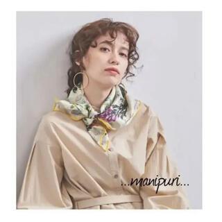 IENA - 新品 マニプリ Manipuri フラワースカーフ シルク100% イエナ