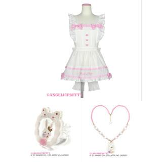 アンジェリックプリティー(Angelic Pretty)のWish me mell Whip Cream Princessコラボ、エプロン(キャラクターグッズ)