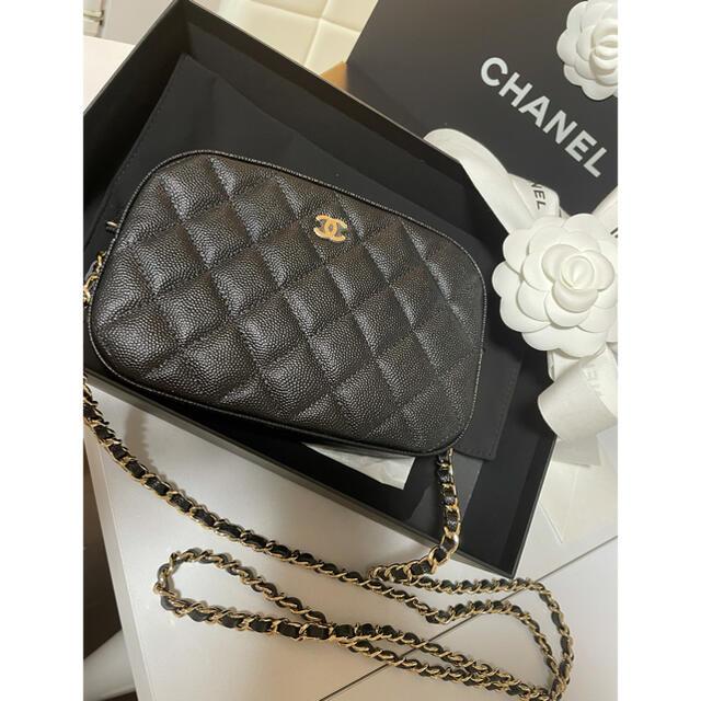 CHANEL(シャネル)のCHANEL キャビアスキン カメラバッグ💗新品未使用 レディースのバッグ(ショルダーバッグ)の商品写真