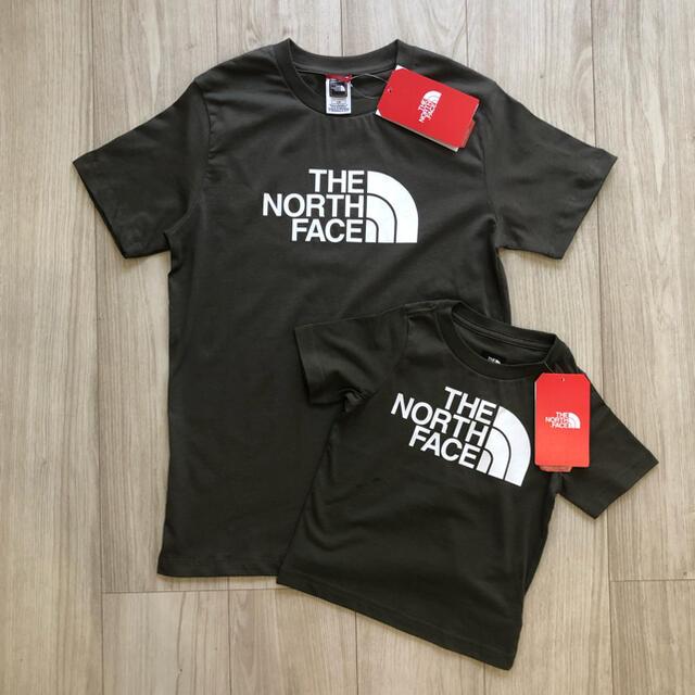 THE NORTH FACE(ザノースフェイス)の【海外限定】ノースフェイス キッズ ビッグロゴ Tシャツ カーキ 160cm キッズ/ベビー/マタニティのキッズ服女の子用(90cm~)(Tシャツ/カットソー)の商品写真