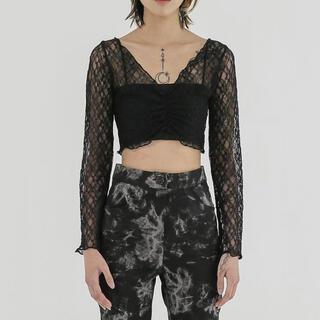 スタイルナンダ(STYLENANDA)のFEKETE トップス BLACK(Tシャツ(半袖/袖なし))