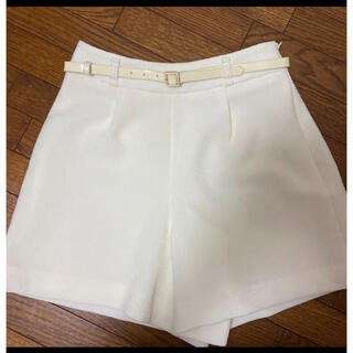 PROPORTION BODY DRESSING - 新品未使用 試着のみ ゴルフ ベルト付き ホワイト ショートパンツ