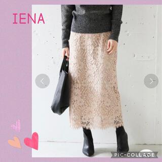 IENA - IENA イエナ ニュアンスレースタイトスカート M 38