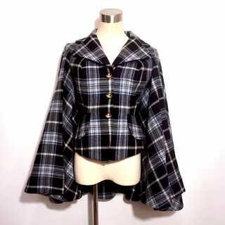 Vivienne Westwood - 新品同様 ヴィヴィアンウエストウッド チェック 変形 ポンチョ コート
