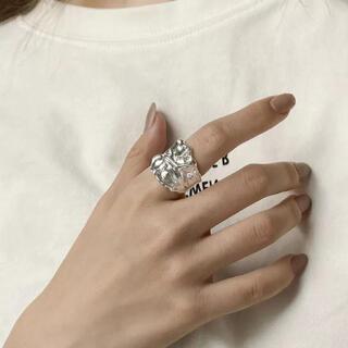 トゥデイフル(TODAYFUL)のwide wrinkled ring(リング(指輪))