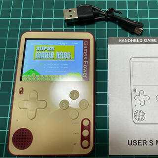 超薄型カードゲーム機 名刺サイズ 6㎜ 500IN1  ファミコンカラー(家庭用ゲーム機本体)