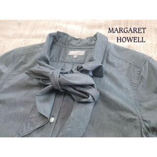 MARGARET HOWELL - ◆マーガレットハウエル ネッカチーフ ブラウス◆