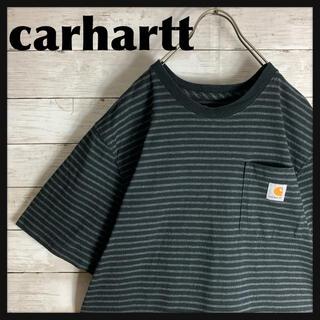 carhartt - 【希少】古着 カーハート carhartt 半袖 Tシャツ 刺繍 ボーダー