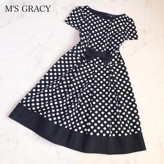 M'S GRACY - エムズグレイシー   リボンワンピース 40