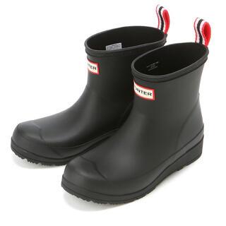 ハンター(HUNTER)のHUNTER ハンター レインブーツ ショート プレイ ブラック 23cm(レインブーツ/長靴)