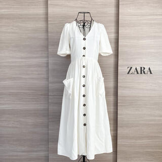 ZARA - ZARA ザラ リネンワンピース