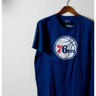 NBA 76ers  ロゴ Tシャツ 青色