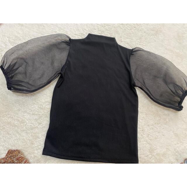 GRL(グレイル)のGRL 袖チュール切り替えハイネックトップス レディースのトップス(カットソー(半袖/袖なし))の商品写真