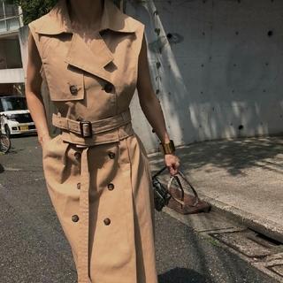 アメリヴィンテージ(Ameri VINTAGE)のAMERIVINTAGE TRENCH LAYERED DRESS(ロングワンピース/マキシワンピース)