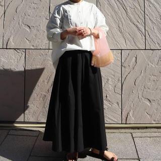 ENFOLD - MACHATT マチャット メモリーロングスカート ブラック 黒