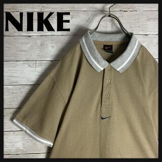 NIKE - 【入手困難】古着 90s ナイキ NIKE 半袖 ポロシャツ フロント刺繍ロゴ