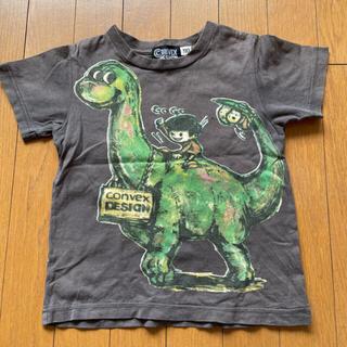 コンベックス(CONVEX)のコンベックス  CONVEX 半袖 110cm 恐竜 チャコール(Tシャツ/カットソー)